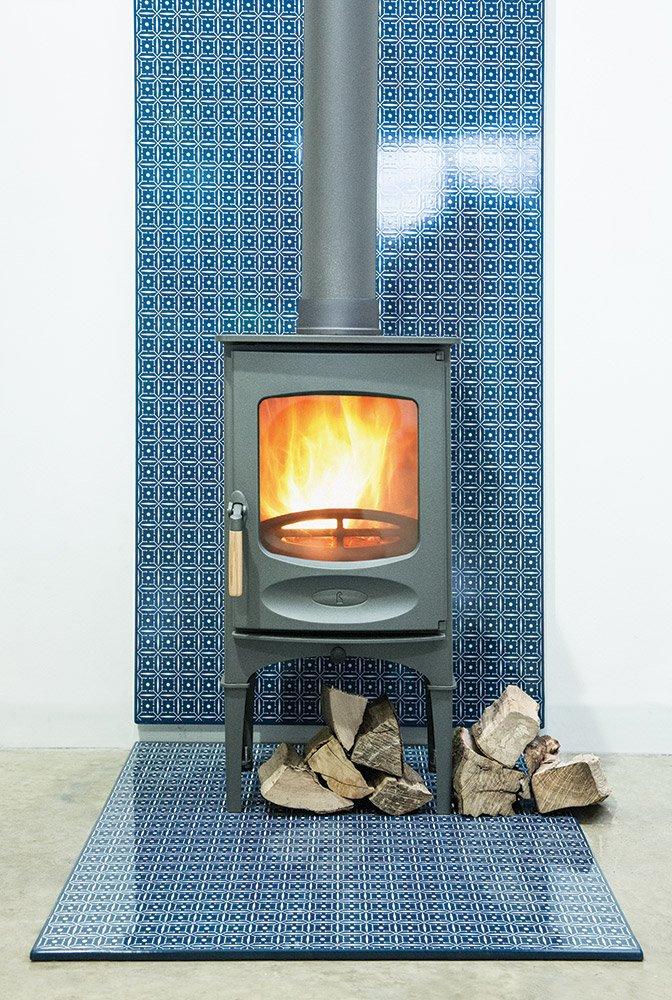 heat shield blue tile