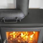Cast Iron Hot Potato Cooker on stove