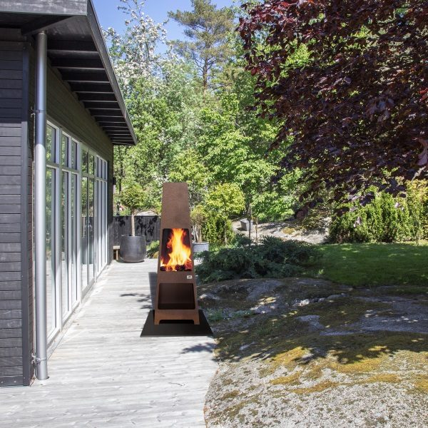 Jotul Loke Corten Outside Fire