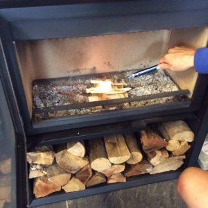 Lighting a Wood Burning Stove
