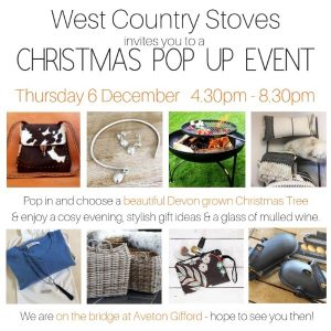 West Country Stoves Christmas Pop Up Event