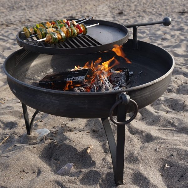 Pain Jane Fire Pit with Swing Arm BBQ
